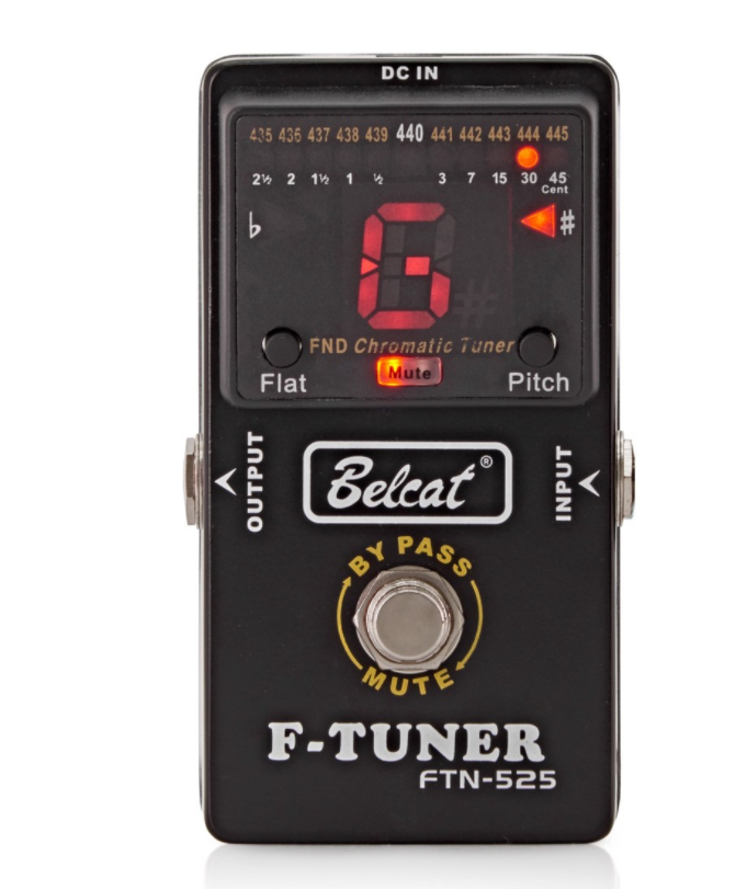Genuine Belcat FTN-525 Effect Pedal Tuner For Guitar Bass Tuning By Pass