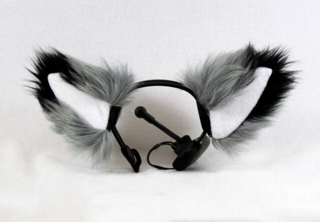PAWSTAR NECOMIMI SLEEVES ONLY Grey FOX Animal cosplay Ears Covers [GY] 3092