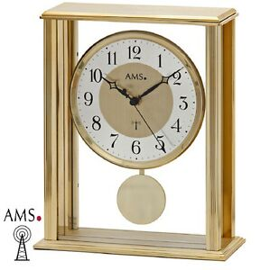 AMS-44-Radio-pilote-Horloge-de-table-a-pendule-boitier-en-metal-Montre-Funky-673
