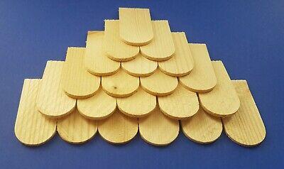 Bastelbedarf 400 Miniholzschindeln Schindeln Holzschindeln Fichte 56x30x3 mm neu