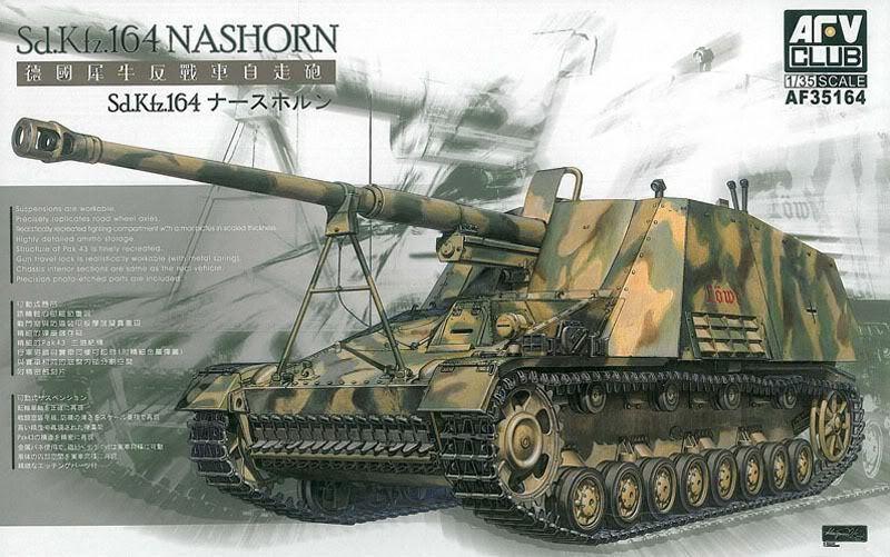 1 35 Afv Club SdKfz 164 Nashorn 8.8cm Pak