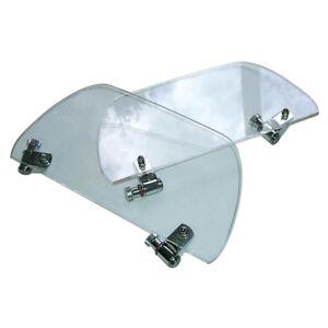 MG TC TD TF Wind wings pair - Clear polished plexiglass - Tourist Trophy 1945-55