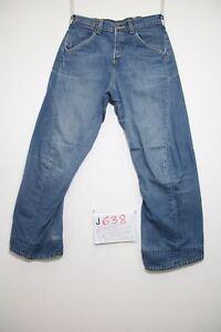 Levi's engineered 653 (Cod.J638) Tg.42 W28 L32 Rand Erneuert Jeans Gebraucht