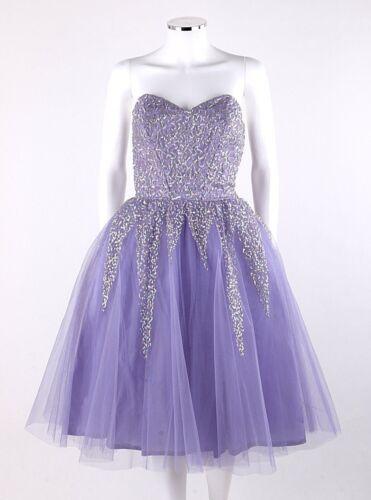 Vtg KAY SELIG c.1950's Lavender Sequin Embellished