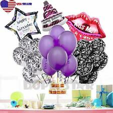 21 Pcs Big Red Lip Birthday Party Balloon Decoration - 21 30 Chic Sweet 16 Girl