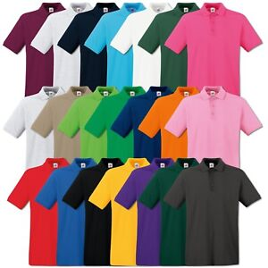 Fruit-of-the-Loom-Poloshirt-Premium-Polo-100-Baumwolle-Shirt-S-M-L-XL-XXL-3XL