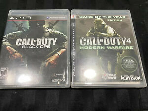 PS3 Playstation 3 Call Of Duty Lot Black Ops And Modern Warfare
