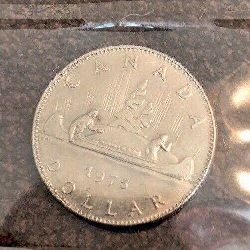 Canada 1975 Proof Like Voyageur Nickel Dollar!!