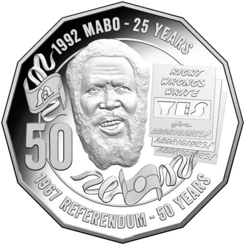 Australian 50 Cent Coin 50th anniversary of MABO Decision UNC From MINT ROLL
