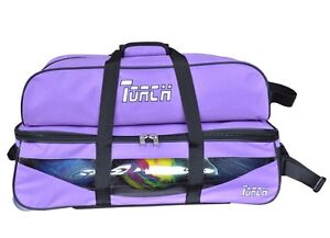 NEW-TORCH-PURPLE-3-BALL-TOTE-ROLLER-WITH-FULL-LENGHT-SHOE-BAG-ON-SALE-32-95