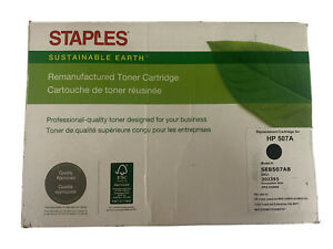 Staples Remanufactured Toner Cartridge Replacement for HP 507A (Black) 202393