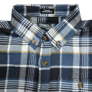 O-039-Neill-Boy-039-s-Blue-Plaid-L-S-Flannel-Shirt-Retail-40-Size-S