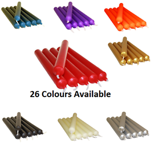 PACK OF COLOURFUL NON DRIP DINNER CANDLES FOR LESS PRICE MANY COLOURS