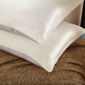 Luxury Mulberry Silk Amp Organic Cotton Pillowcase W Hidden