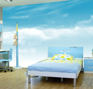 Image Is Loading Blue Sky Clouds Wallpaper Living Picture Photo Mural