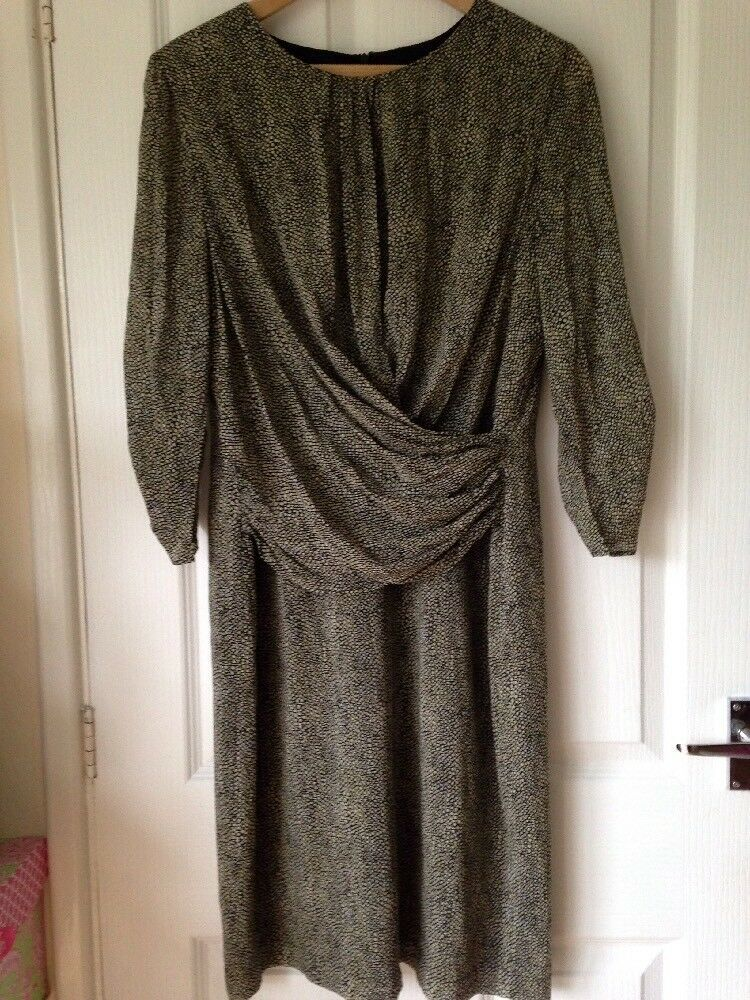 Hobbs Dress Size 14 Silk