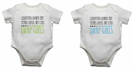 Counting Down The Years Until We Can Swap Girls Baby Vests Twins Gift Twin