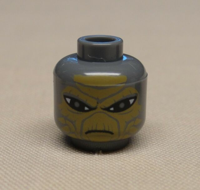 Lego Minifig Heads x 4 Dark Stone Grey Star Wars Shahan Alama Heads