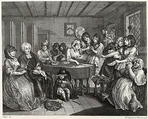 A Harlot/'s Progress Plate 5 Fine Art Print Hogarth Print Reproductions