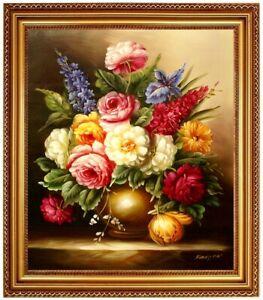 Olbild-Blumen-Blumenbild-OLGEMALDE-HANDGEMALT-Blumenmalerei-Blumengemaelde-F50x60