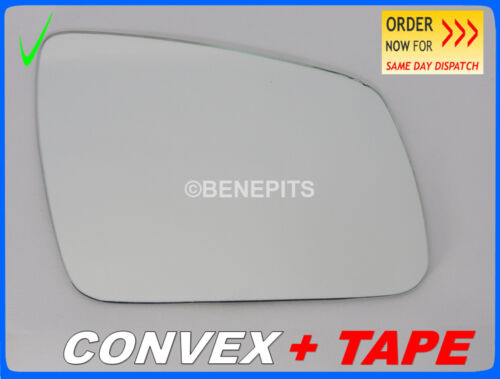 TAPE Right #E016 Wing Mirror Glass For MERCEDES C-CLASS W204 2007-2009 CONVEX