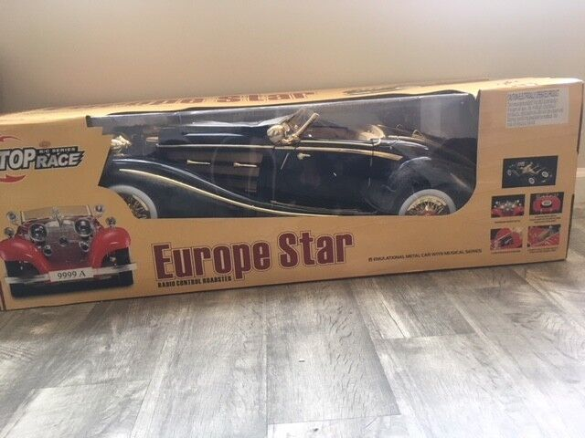 Remote Controlled Europe Star Roadster Chocolate ColGoldt with Gold Trim
