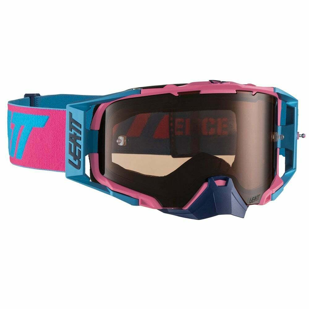 Leatt 2019 Velocity 6.5 Tear Off Goggles with pink UC Lens - Pink  Cyan