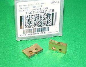 "AMEC ALLIED 150T-16-FB INSERT DRILL 16mm SPADE BLADE .6299"" COBALT TiN 2"