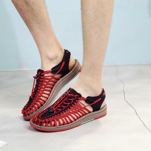 Men Outdoor Closed toe Summer Beach Sports Sandals Slip on Comfort Walking Shoes