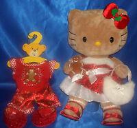 Rare Build a Bear Ltd Edt Gingerbread Hello Kitty + Cookie,Christmas,PJ's,Shoes