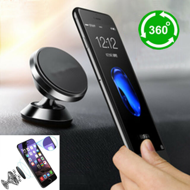 e857ccd246a34 360° Magnetic Car Mount Holder Stand For iPhone Samsung GPS Universal Cell  Phone