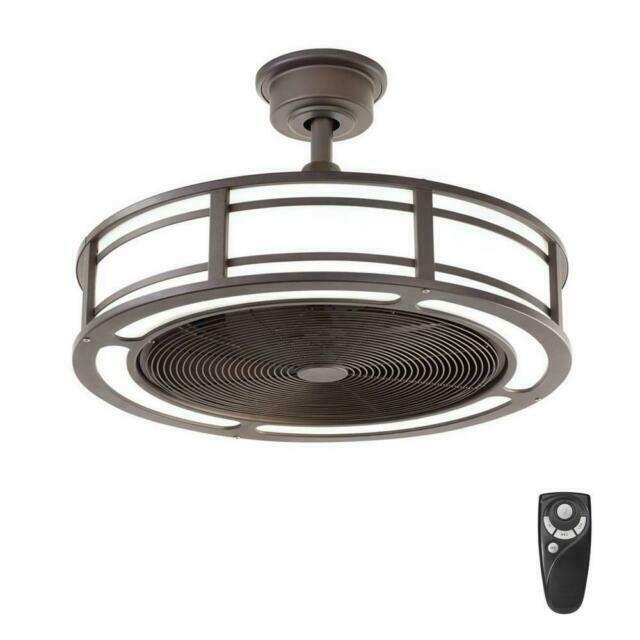 Led Indoor Outdoor Ceiling Fan, Outdoor Ceiling Fans With Remote Control And Light