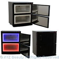 Black 2 Cabinet Hot Towel Warmer UV Sanitizer Sterilizer Beauty ...