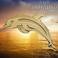 24K GOLD DOLPHIN - 1/2 Half Gram 14mm $1 Dollar Coin in Capsule with COA - PALAU