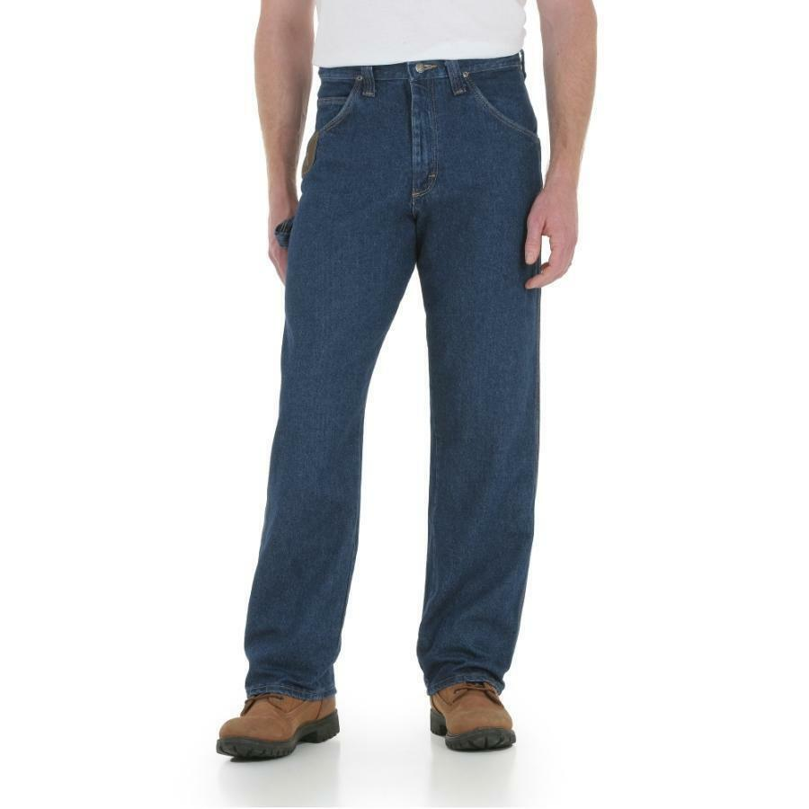 NEW MENS WRANGLER JEANS WORK HORSE blueE JEANS RELAXED 48 34 56 30 44 32 3W0001AI