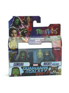 Marvel-Minimates-Gamora-amp-Rocket-w-Groot-Series-71-Guardians-Of-The-Galaxy-Vol-2