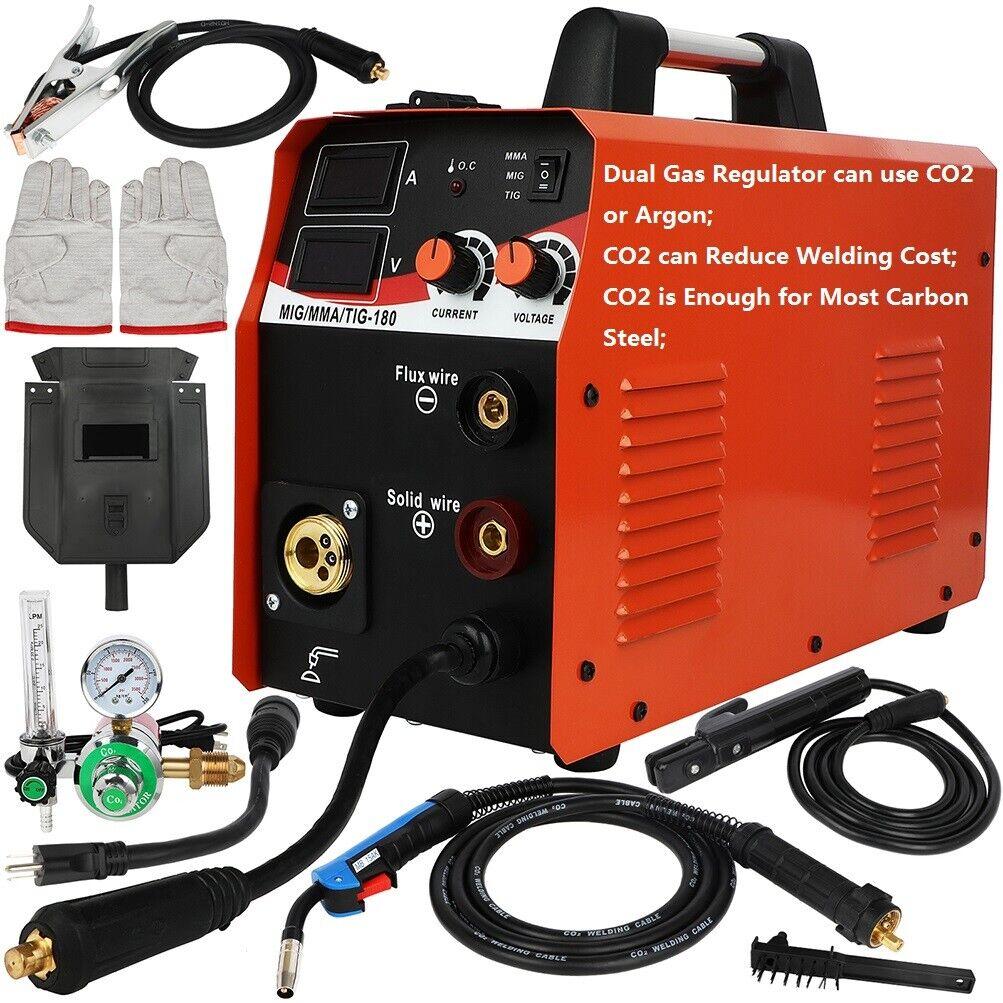 Low Cost Dual Gas CO2/Argon 180A Inverter Welder MIG/TIG/Stick Welding Machine. Buy it now for 299.00