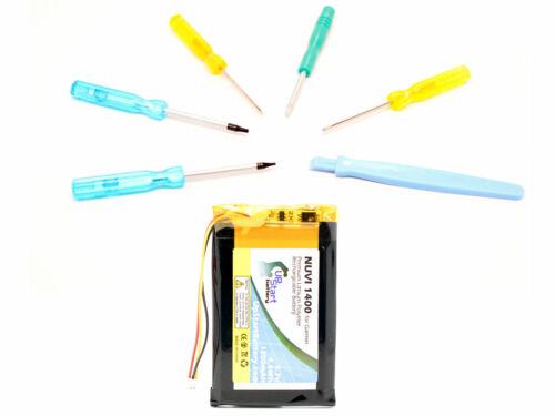 1200mAh, 3.7V, Lithium Polymer Garmin Nuvi 1490T Battery with Tools Kit