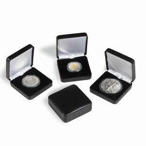 Leuchtturm Münzetui NOBILE schwarz für runde Münzkapseln zur Auswahl