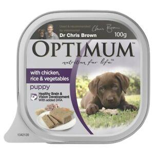 Optimum Puppy Chicken Wet Dog Food Tray 100g