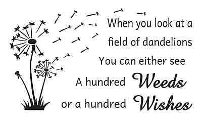 """Primitive STENCIL**When you look at a field of dandelions **for Signs 12""""x 20"""""""