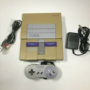 Super-Nintendo-SNES-Console-System-Bundle-with-Controller-TESTED