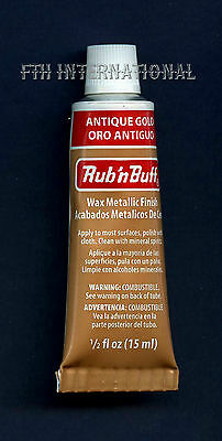 Amaco Rub 'N Buff Wax Metallic Finish for Crafts ~ 12 colors to choose from