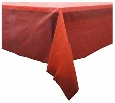 CHRISTMAS FESTIVE TABLE COVER CLOTH DINNING ROOM DECORATION LARGE PEVA PLAIN RED