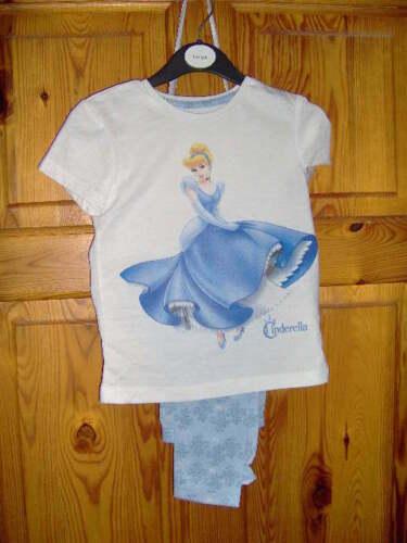 BLUE AGES 1-10 yrs PRETTY DISNEY CINDERELLA GIRLS PYJAMAS Long /& shortie