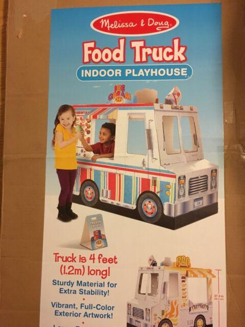 Brand New Melissa Doug Food Truck Indoor Playhouse Children Kids Gift Toy