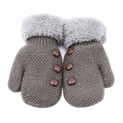 Charm Kids Gloves Baby Knitted Gloves Warm Mittens with Anit Drop Rope Shan