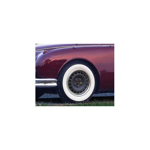 """4x CERCHI ANELLI BIANCO MURO anelli autorizzazione 16/"""" Radzierblenden MERCEDES BMW OPEL MG"""