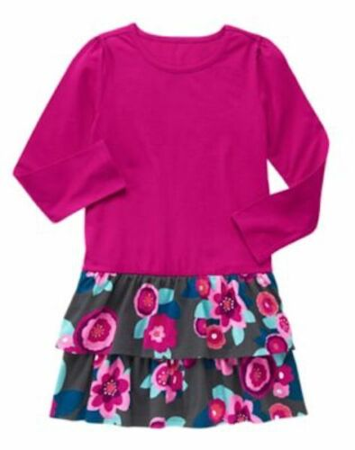 NWT Gymboree Mix N Match Floral Ruffled Dress Kid Girls and Toddler Sizes