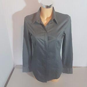 pick up ef3d4 a63f3 Details zu XETRA ITALIA Damen Bluse Hemdbluse Gr. S grau Baumwolle Langarm  WIE NEU